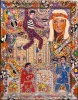 Outsider artist painting: Elvis Presley - by Harriet Young