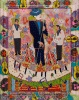Outsider artist painting: Bing Crosby, Frank Sinatra and Dean Martin - by Harriet Young