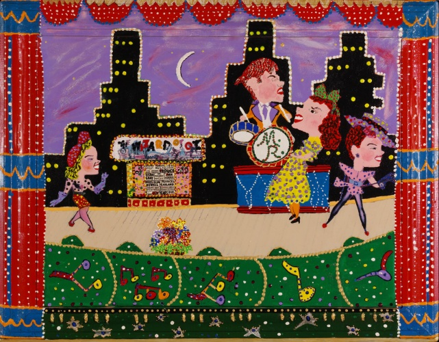 Outsider artist painting: The Wizard of Oz - by Harriet Young